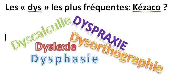 LES TROUBLES «DYS»